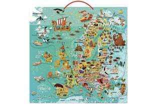 Carte d'Europe Magnétique - Vilac - Jouet en Bois