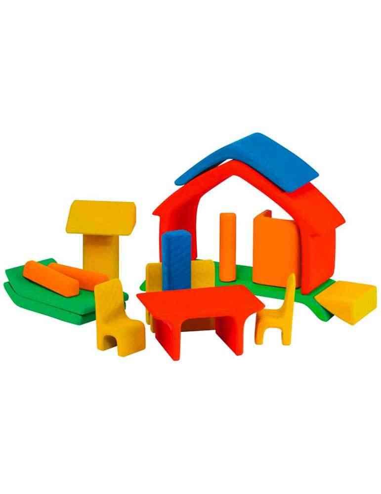 Maison avec meubles - jouet en bois - Gluckskafer