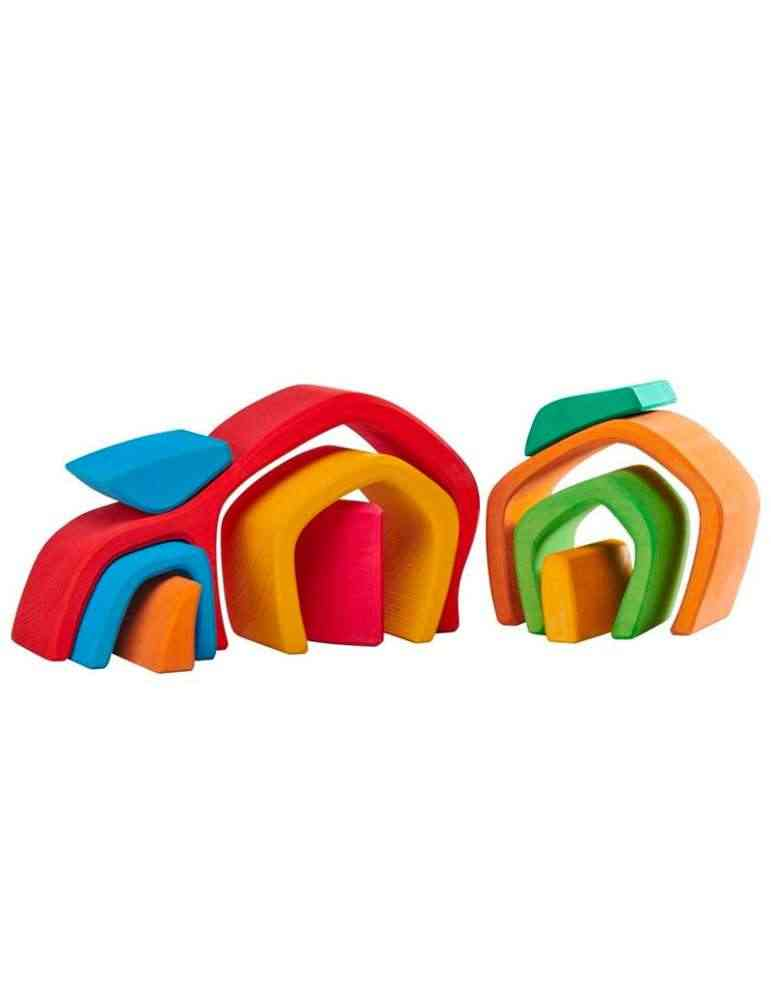 Tunnel vouté - jouet en bois - Gluckskafer
