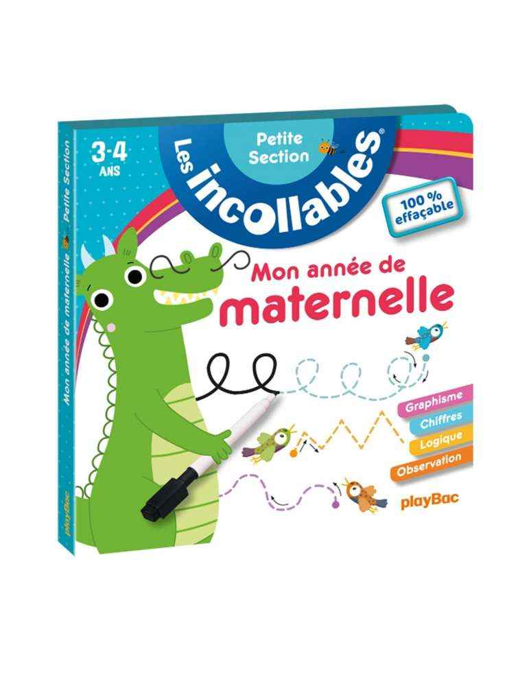 Les Incollables Petite Section - Carnet Effaçable - Maternelle