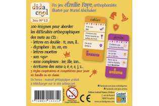Dos boite Orthodingo CE1 Dida Cool Jeu Éducatif de Français Apprendre à Écrire