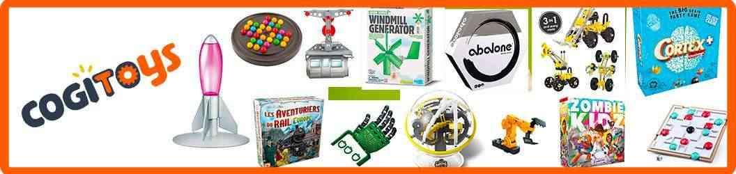 Sélection de jeux et jouets pour jouer plus intelligemment de 0 à 12 ans avec CogiToys.fr